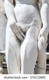 Marble statue in Piazza Pretoria, also known as the Square of Shame, Piazza della vergogna in Palermo, Sicily