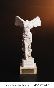 Marble statuette of Nike - the greek goddess of victory