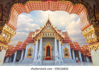 Marble Temple of Bangkok, Thailand,Wat Benchamabophit, Bangkok,