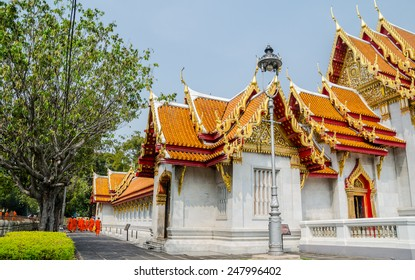 The marble temple or Wat Benchamabophit Dusitvanaram , a Buddhist temple in the Dusit district of Bangkok, Thailand.
