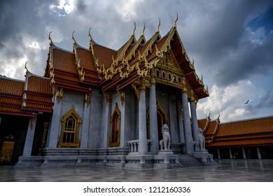 Marble temple or Wat Benchamabopit Dusitvanaram - Bangkok, Thailand
