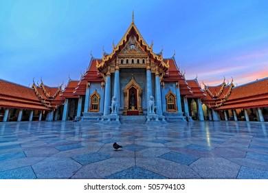 The Marble Temple, Wat Benchamabopitr Dusitvanaram Bangkok June 5, 2016 THAILAND