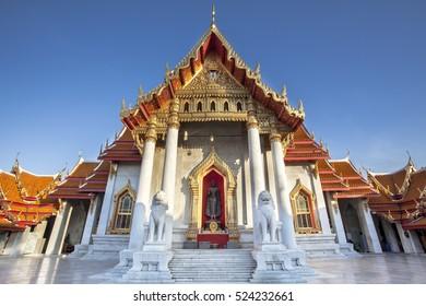 The Marble Temple, Wat Benchamabopitr Dusitvanaram Bangkok, Thailand