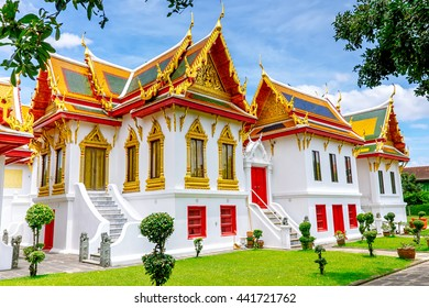 Marble temple (Wat Benjamabophit). One of Bangkok's most beautiful temples