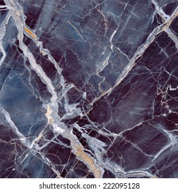 Marble texture. Black and blue stone background. Caribbean Portoro Marble. Michelangelo. Quality stone texture with deep veins. High resolution.