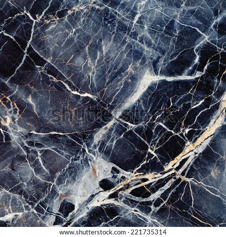 Marble Texture Black Blue Stone Background Stock Photo