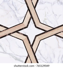 marble tiles  octagon pattern