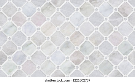 Marble Wall & Floor Tiles with a modern abstract mosaic pattern