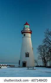 Marblehead Lighthouse at Christmas in Ohio
