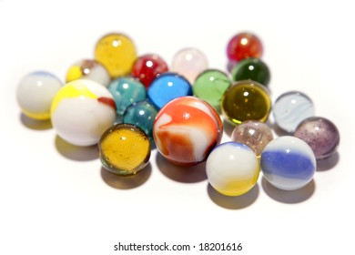 Marbles isolated over white
