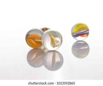 marbles, sphere, crystal, transparent, reflection