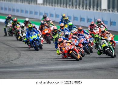 Marc Marquez no.93 of Spain and Repsol Honda Team in action during The PTT Thailand Grand Prix - MotoGP at Chang International Circuit on October 7, 2018 in Burirum ,Thailand