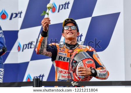 4cf55e993a21 Marc Marquez no.93 of Spain and Repsol Honda Team celebrate on the podium  after