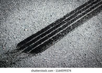 Marca de llanta rueda de auto / car tire mark