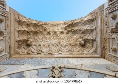 MARCH 01,2019 KARAMAN TURKEY Hatuniye Medresseh (Turkish: Hatuniye Medresesi), is a historical medrese in Karaman, Turkey, built in the 14th century.
