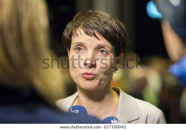March 02, 2017, Luebeck: Politician Frauke Petry at the election battle   Wahlkampf der AfD mit Frauke Petry in Luebeck, Politik, 02.03.2017