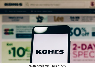 March 05, 2019, Brazil. Logo of the United States clothing store network, Kohl's Corporation displayed on the screen of the mobile device. Kohl's is present in 49 states with more than 1,000 stores.