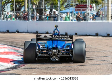 March 08, 2019 - St. Petersburg, Florida, USA: GRAHAM RAHAL (15) of the United States goes through the turns during practice for the Firestone Grand Prix of St. Petersburg