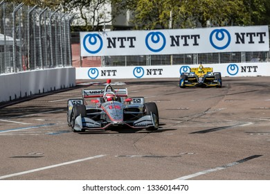 March 08, 2019 - St. Petersburg, Florida, USA: WILL POWER (12) of Australia goes through the turns during practice for the Firestone Grand Prix of St. Petersburg