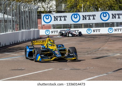 March 08, 2019 - St. Petersburg, Florida, USA: ZACH VEACH (26) of the United Stated goes through the turns during practice for the Firestone Grand Prix of St. Petersburg