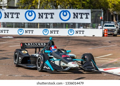 March 08, 2019 - St. Petersburg, Florida, USA: COLTON HERTA (88) of The United States goes through the turns during practice for the Firestone Grand Prix of St. Petersburg