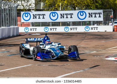 March 08, 2019 - St. Petersburg, Florida, USA: TAKUMA SATO (30) of Japan goes through the turns during practice for the Firestone Grand Prix of St. Petersburg