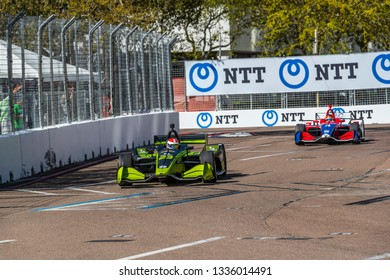 March 08, 2019 - St. Petersburg, Florida, USA: CHARLIE KIMBALL (23) of the United States goes through the turns during practice for the Firestone Grand Prix of St. Petersburg