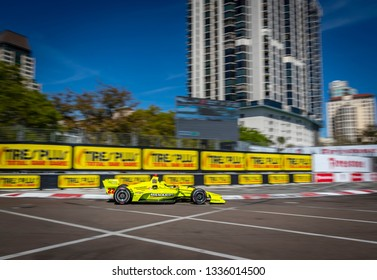March 08, 2019 - St. Petersburg, Florida, USA: SIMON PAGENAUD (22) of France goes through the turns during practice for the Firestone Grand Prix of St. Petersburg