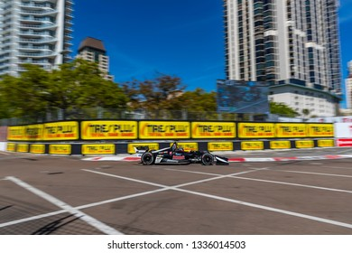 March 08, 2019 - St. Petersburg, Florida, USA: ED JONES (20) of The United Emerates goes through the turns during practice for the Firestone Grand Prix of St. Petersburg
