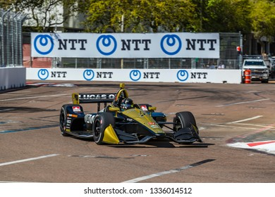 March 08, 2019 - St. Petersburg, Florida, USA: MARCUS ERICSSON (7) of Sweeden  goes through the turns during practice for the Firestone Grand Prix of St. Petersburg