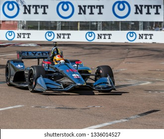 March 08, 2019 - St. Petersburg, Florida, USA: SANTINO FERRUCCI (19) of the United States goes through the turns during practice for the Firestone Grand Prix of St. Petersburg