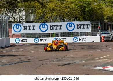 March 08, 2019 - St. Petersburg, Florida, USA: RYAN HUNTER-REAY (28) of the United States goes through the turns during practice for the Firestone Grand Prix of St. Petersburg