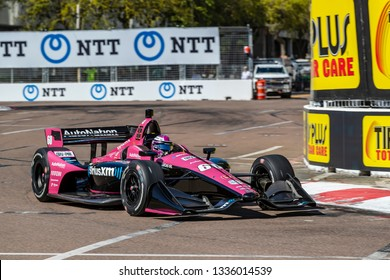 March 08, 2019 - St. Petersburg, Florida, USA: Jack Harvey (60) of England  goes through the turns during practice for the Firestone Grand Prix of St. Petersburg