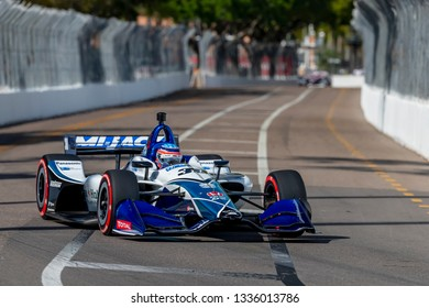 March 09, 2019 - St. Petersburg, Florida, USA: TAKUMA SATO (30) of Japan qualifes for the Firestone Grand Prix of St. Petersburg