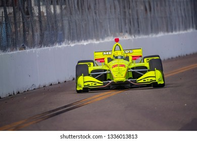 March 09, 2019 - St. Petersburg, Florida, USA: SIMON PAGENAUD (22) of France qualifes for the Firestone Grand Prix of St. Petersburg at The Temporary Waterfront Street Course in St. Petersburg Florida