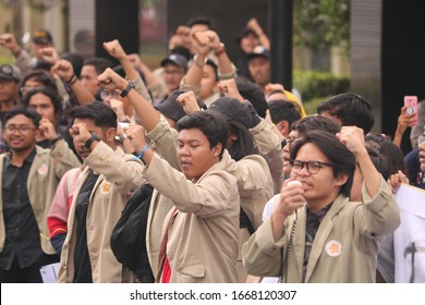 March 09, 2020, Sleman, Indonesia: The Gejayan Calling Movement (Indonesian: Gejayan Memanggil) was organized by students from various campuses in Yogyakarta.