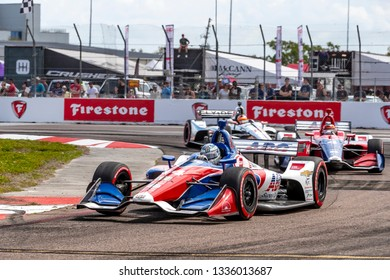 March 10, 2019 - St. Petersburg, Florida, USA: TONY KANAAN (14) of Brazil brings his car through the race course during the Firestone Grand Prix of St. Petersburg