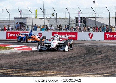 March 10, 2019 - St. Petersburg, Florida, USA: JOSEF NEWGARDEN (2) of the United States brings his car through the race course during the Firestone Grand Prix of St. Petersburg
