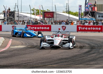 March 10, 2019 - St. Petersburg, Florida, USA: WILL POWER (12) of Australia brings his car through the race course during the Firestone Grand Prix of St. Petersburg