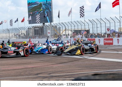 March 10, 2019 - St. Petersburg, Florida, USA: MARCUS ERICSSON (7) of Sweeden  brings his car through the race course during the Firestone Grand Prix of St. Petersburg