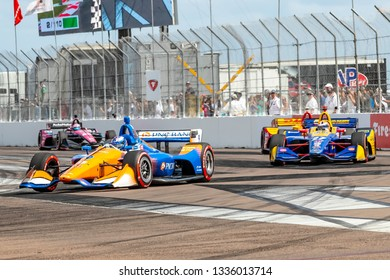 March 10, 2019 - St. Petersburg, Florida, USA: SCOTT DIXON (9) of New Zealand brings his car through the race course during the Firestone Grand Prix of St. Petersburg