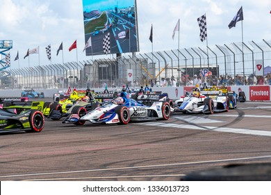 March 10, 2019 - St. Petersburg, Florida, USA: GRAHAM RAHAL (15) of the United States brings his car through the race course during the Firestone Grand Prix of St. Petersburg