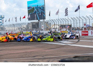 March 10, 2019 - St. Petersburg, Florida, USA: ALEXANDER ROSSI (27) of the United States brings his car through the race course during the Firestone Grand Prix of St. Petersburg