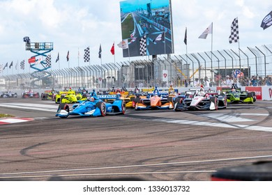 March 10, 2019 - St. Petersburg, Florida, USA: FELIX ROSENQVIST (10) of Sweeden brings his car through the race course during the Firestone Grand Prix of St. Petersburg