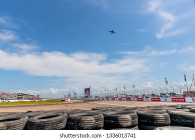 March 10, 2019 - St. Petersburg, Florida, USA: The Temporary Waterfront Street Course plays host to the Firestone Grand Prix of St. Petersburg at in St. Petersburg, Florida.