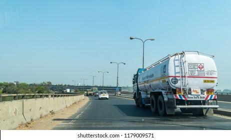 March 10.2018. Kolkata, West Bengal, India. Vehicles entering Kolkata city through Indian National Highway.