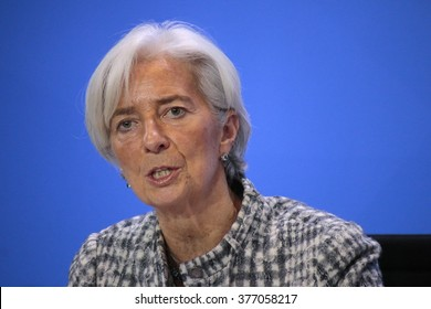 MARCH 11, 2015 - BERLIN: the Managing Director of the International Monetary Fund (IMF), Christine Lagarde at a press conference after a meeting in the Chanclery, Berlin.