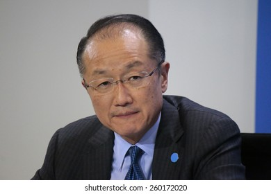 MARCH 11, 2015 - BERLIN: President of the World Bank Jim Yong Kim at a press conference after a meeting with the German Chancellor in the Chanclery, Berlin.