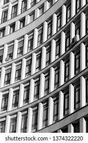 MARCH 11, 2019 - MILAN, ITALY: Office building closeup in Milan, Italy.