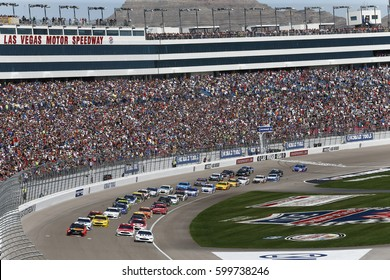 March 12, 2017 - Las Vegas, Nevada, USA: The Monster Energy NASCAR Cup Series teams take to the track for the Kobalt 400 at Las Vegas Motor Speedway in Las Vegas, Nevada.